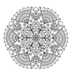 webcircular pattern mandala for coloring on a vector image