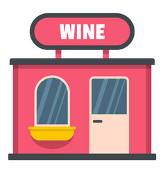 wine shop icon flat style vector image