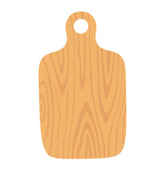 Wooden cutting board isolated vector