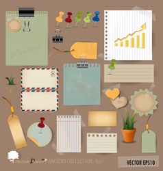 Collection of various note papers vector image