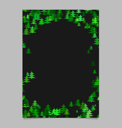 color abstract random seasonal pine tree card vector image vector image