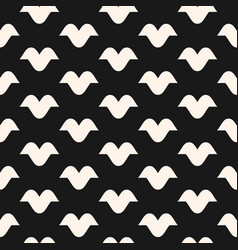funky monochrome seamless hipster pattern vector image