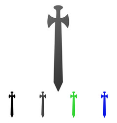medieval sword flat gradient icon vector image