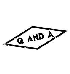 Q and a rubber stamp vector