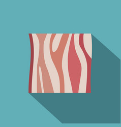 slice of ham icon flat style vector image