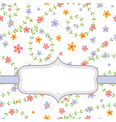 Background with multicolored flowers vector image vector image