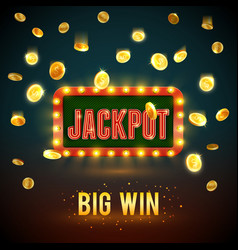 jackpot big win casino fame backdrop vector image
