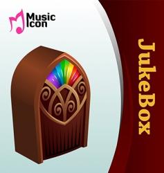 music jukebox vector image