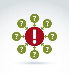 Round consultation symbol call center icon vector image vector image