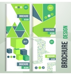 Set of brochure cover templates with vector image vector image