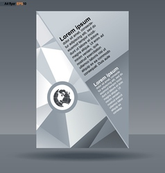 Abstract print a4 design with triangles for flyers vector