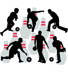 bowling vs vector image vector image