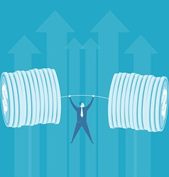 Business lifting money weight vector image vector image