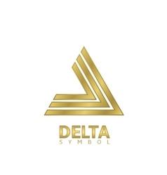 Golden Delta sign vector image