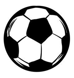 soccer icon cartoon vector image