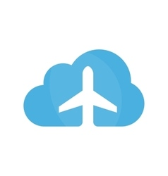 airplane and cloud logo design template vector image
