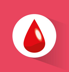 blood drop donate symbol vector image