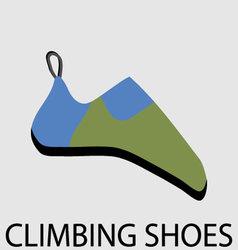 Climbing shoes icon flat design vector image