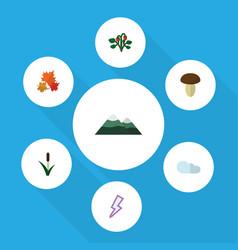 Flat icon ecology set of berry champignon vector