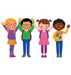Group of children students vector image vector image
