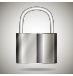 lock metal vector image vector image