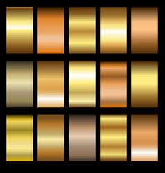 set gold gradients vector image
