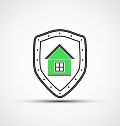 shield and Real Estate vector image