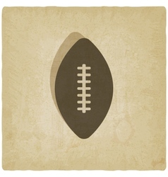 sport football logo old background vector image vector image