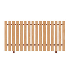 wooden fence on white background vector image vector image