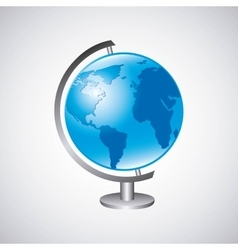 world planet earth school supply vector image