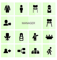 14 manager icons vector