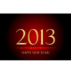 2013 new year red and gold vector image vector image