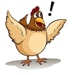 A fat hen vector image