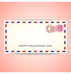 Air mail envelope for valentines day vector