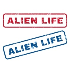 Alien Life Rubber Stamps vector image