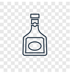 armagnac concept linear icon isolated on vector image
