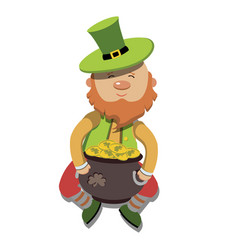 artoon leprechaun st patricks day vector image