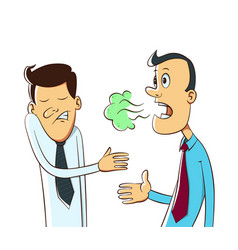 bad breath cartoo vector image