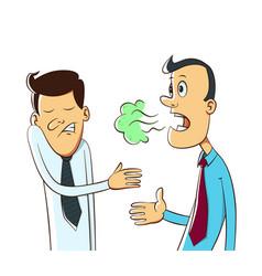 Bad breath cartoon vector