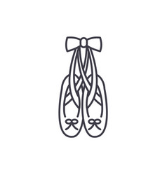 ballet shoes line icon concept ballet shoes vector image