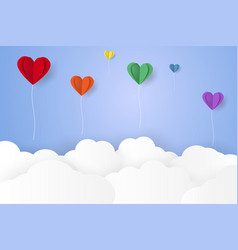 balloon and cloud vector image