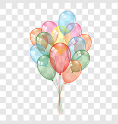 Balloons 3d bunch set isolated on white vector