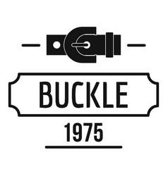 Buckle metal logo simple black style vector