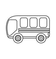 bus transport service icon vector image