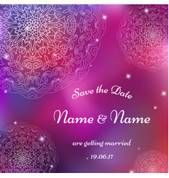 card template for wedding invitations for vector image
