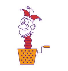 Cartoon harlequin icon vector