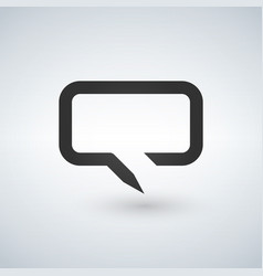 chat bubble line simple icon outline sign linear vector image