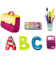 childhood education elements vector image