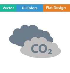 CO 2 cloud icon vector image