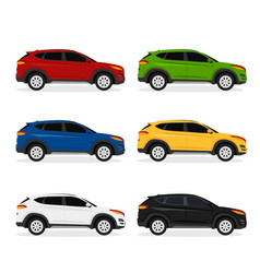 collection side view hatchback car vector image